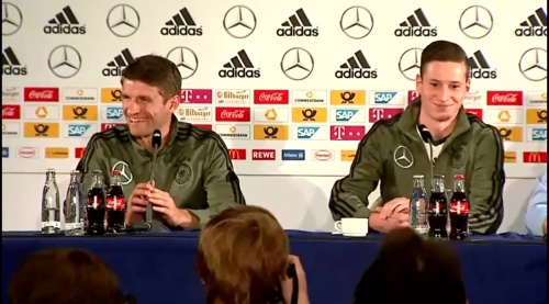 Thomas Müller & Julian Draxler – Press Conference 3