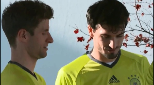 Thomas Müller & Mats Hummels – Training in München 1