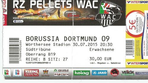 Wolfsberger SC v Borussia Dortmund - Europa League qualifier 15-16