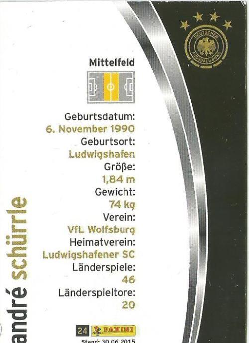 Andre Schürrle - DFB 2015-16 card 2