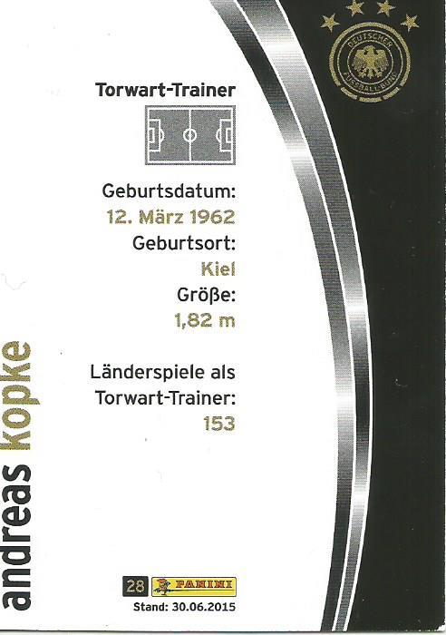 Andreas Köpke - DFB card 2015-16 2
