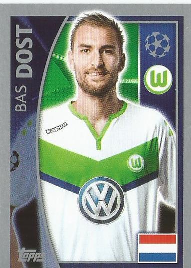 Bas Dost - VfL Wolfsburg - CL 2015-16 sticker