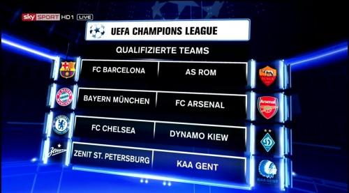 Champions League 2015-16 - last 16 2