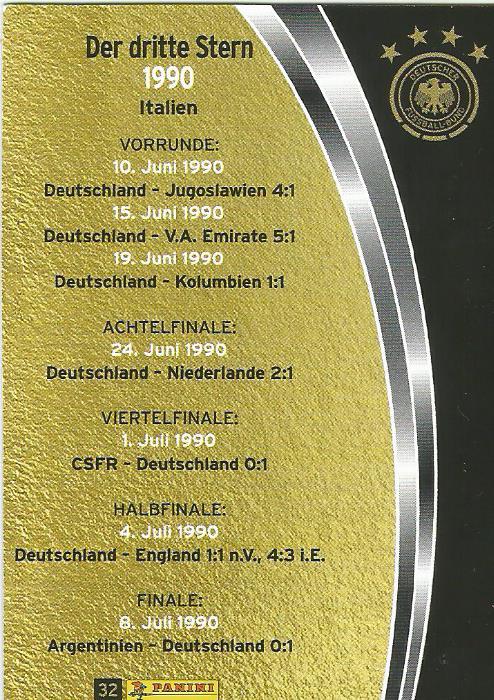 Der dritte Stern 1990 - DFB card 2015-16 2