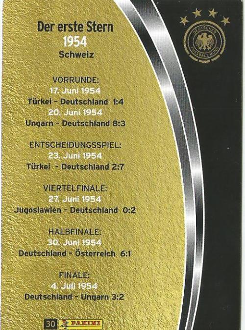 Der erste Stern 1954 - DFB card 2015-16 2