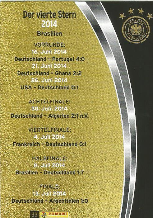 Der vierte Stern 2014 - DFB 2015-16 card 2