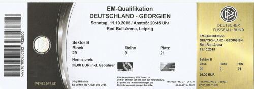 Deutschland v Georgien 2015 ticket