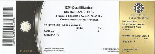 Deutschland v Polen 2015 ticket