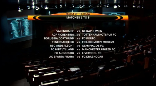 Europa League last 32 draw results - 2015-16 1