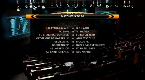 Europa League last 32 draw results - 2015-16 2