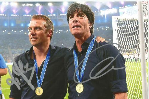 Hansi Flick & Jogi Löw signed photo