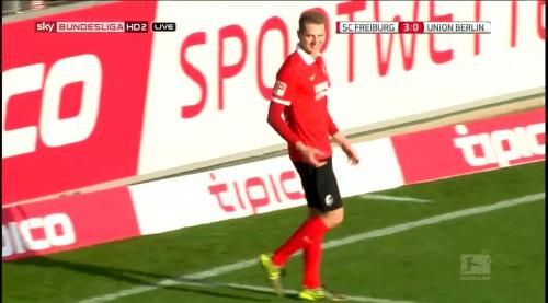 Immanuel Höhn goal celebration - SC Freiburg v 1. FC Union Berlin 1
