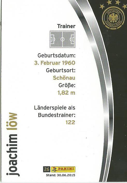 Joachim Löw - DFB 2015-16 card 2