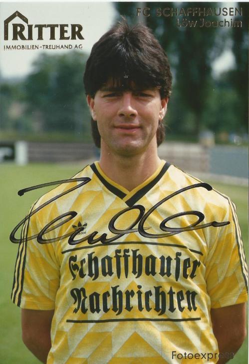 Joachim Löw – FC Schaffhausen signed photo card