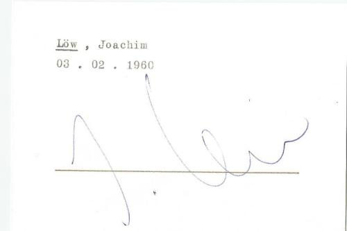 Joachim Löw – signed Eintracht Frankfurt card