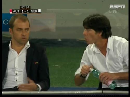 Joachim Löw & Hansi Flick – Austria v Germany 4