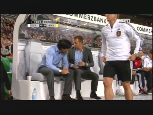 Joachim Löw & Hansi Flick – Germany v Brazil 15
