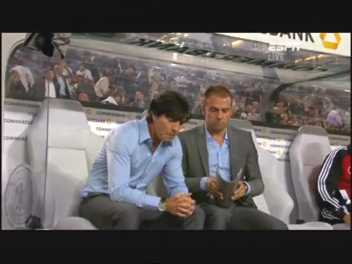 Joachim Löw & Hansi Flick – Germany v Brazil 19