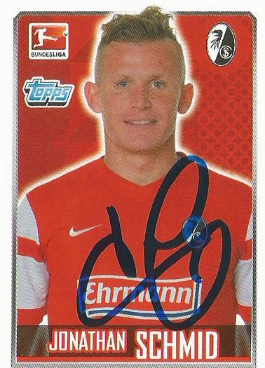 Jonathan Schmid – SC Freiburg 2014-15 signed sticker