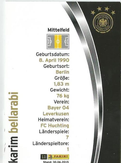Karim Bellarabi - DFB card 2015-16 2