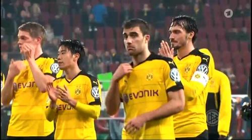 Matthias Ginter & Sokratis - Augsburg v Dortmund - DFB Pokal 1