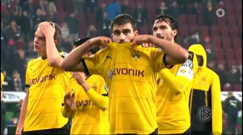 Matthias Ginter & Sokratis - Augsburg v Dortmund - DFB Pokal 2