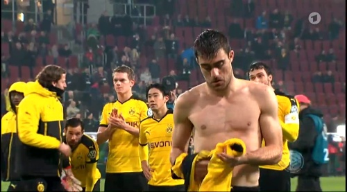 Matthias Ginter & Sokratis - Augsburg v Dortmund - DFB Pokal 3