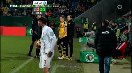 Matthias Ginter & Thomas Tuchel - Augsburg v Dortmund - DFB Pokal 1
