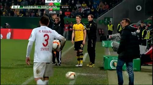Matthias Ginter & Thomas Tuchel - Augsburg v Dortmund - DFB Pokal 3