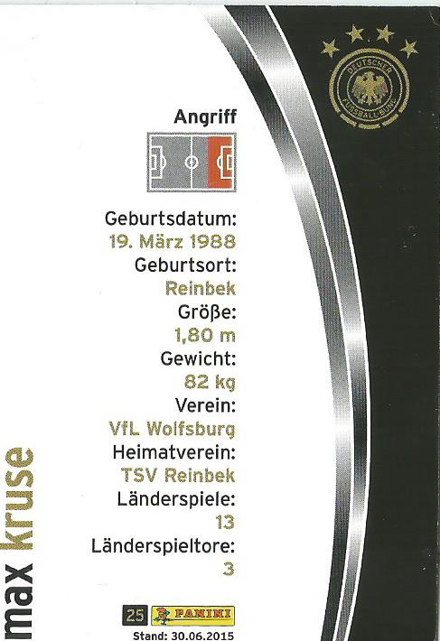 Max Kruse - DFB card 2015-16 2