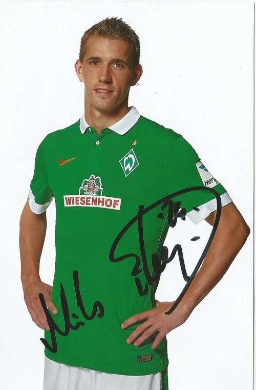 Nils Petersen signed Bremen photo