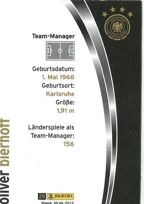 Oliver Bierhoff - DFB card 2015-16 2