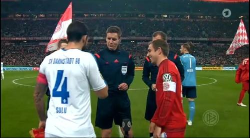 Philipp Lahm - Bayern v Darmstadt - DFB Pokal 1