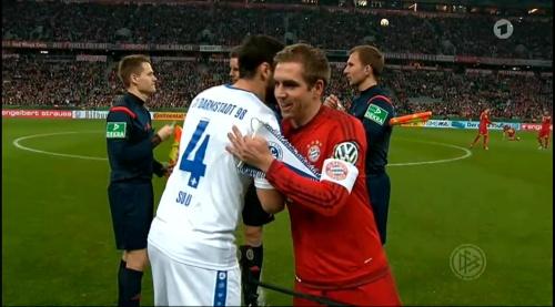 Philipp Lahm - Bayern v Darmstadt - DFB Pokal 4