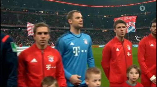 Philipp Lahm & Manuel Neuer - Bayern v Darmstadt - DFB Pokal 2