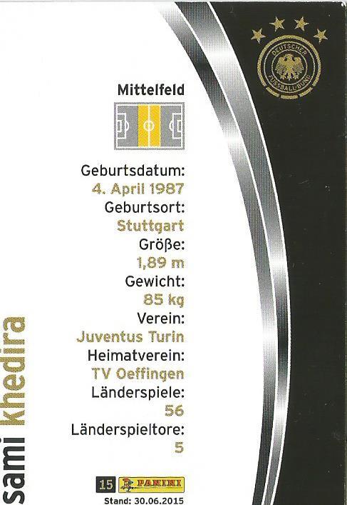 Sami Khedira - DFB card 2015-16 2