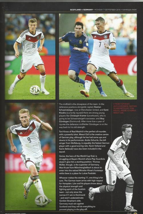 Scotland v Germany programme 6