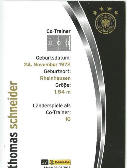 Thomas Schneider - DFB card 2015-16 2