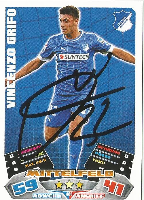 Vincenzo Grifo - signed Hoffenheim Match Attax card
