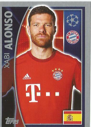 Xabi Alonso - FC Bayern München - CL 2015-16 sticker