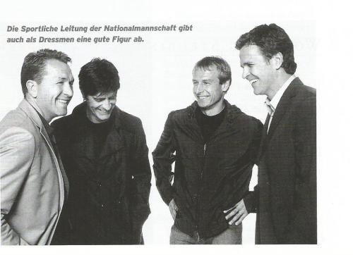 Andreas Köpke, Joachim Löw, Jürgen Klinsmann & Oliver Bierhoff