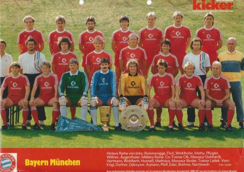 Hansi Flick - Bayern team poster 1986-87