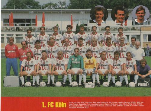 Hansi Flick – 1.FC Köln team poster 1