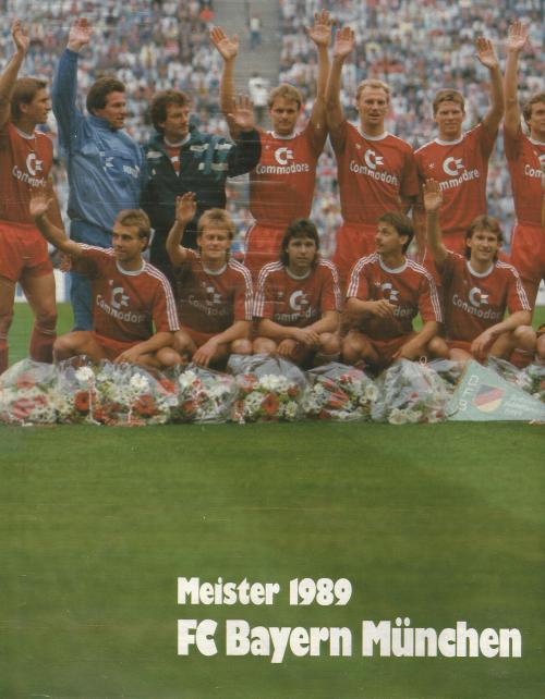 Hansi Flick – Bayern team poster 1989