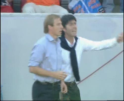 Jürgen Klinsmann & Joachim Löw – Germany v Tunisia 2
