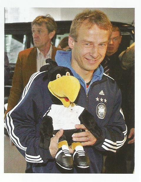 Jürgen Klinsmann mascot picture - Germany v Luxembourg program