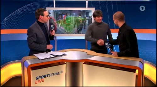 Joachim Löw ARD half-time interview – HSV v FC Bayern München 2015-16 13