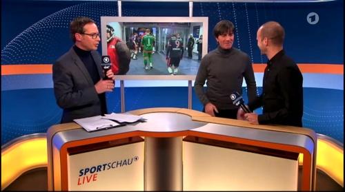 Joachim Löw ARD half-time interview – HSV v FC Bayern München 2015-16 14