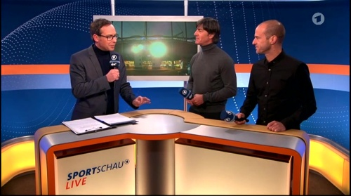 Joachim Löw ARD half-time interview – HSV v FC Bayern München 2015-16 2