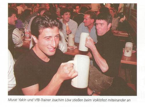 Joachim Löw – Cannstatter Volksfest picture – Stuttgart v Hertha 1997-98 program